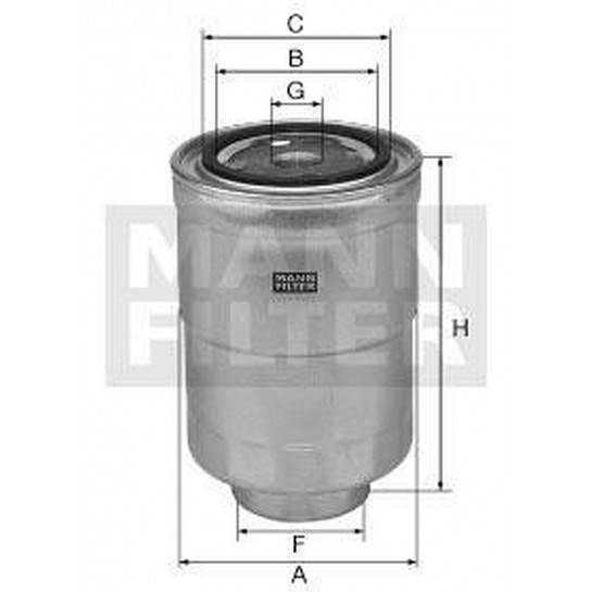 filter paliva mann WK 828