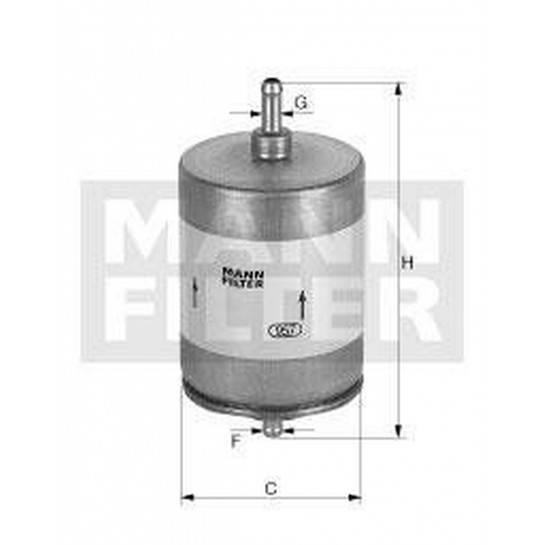 filter paliva mann WK 413