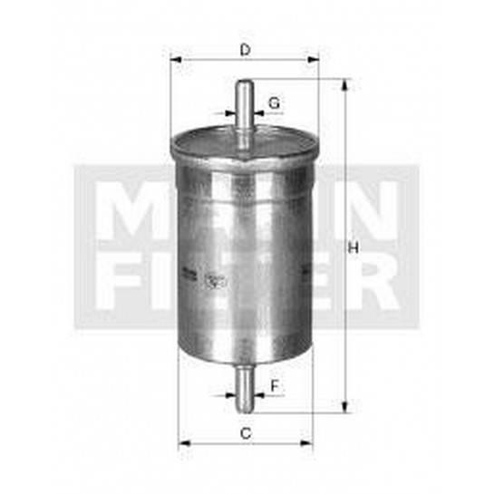 filter paliva mann WK 6002 WK 612/1