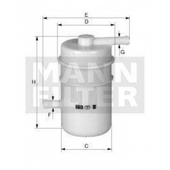 filter paliva mann WK 52