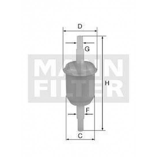 filter paliva mann WK 32