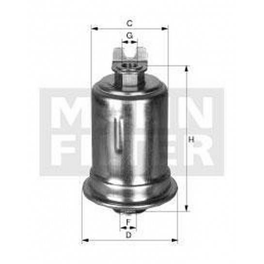 filter paliva mann WK 614/8x