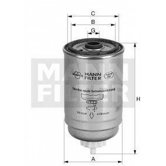 filter paliva mann WK 842/8