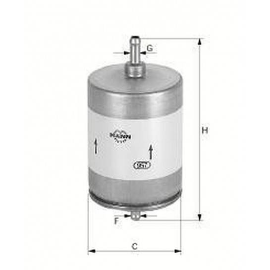 filter paliva mann WK 831