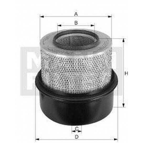 filter vzduchový mann C 291219/1