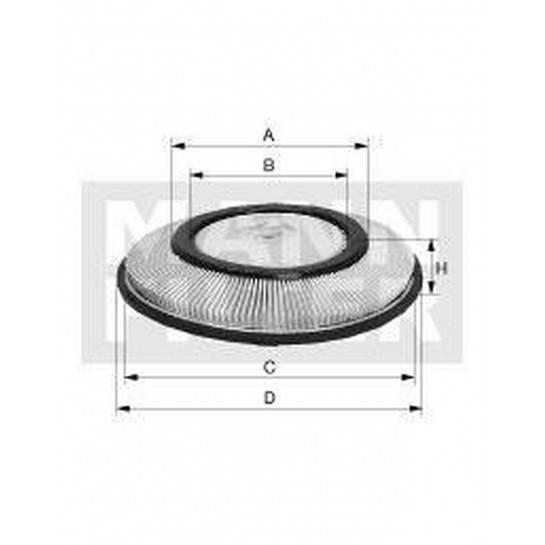 filter vzduchový mann C 2821