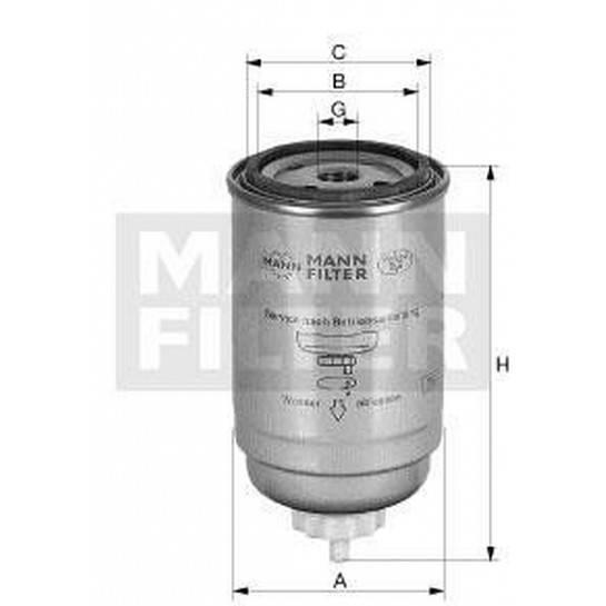 filter paliva mann WK 842/6