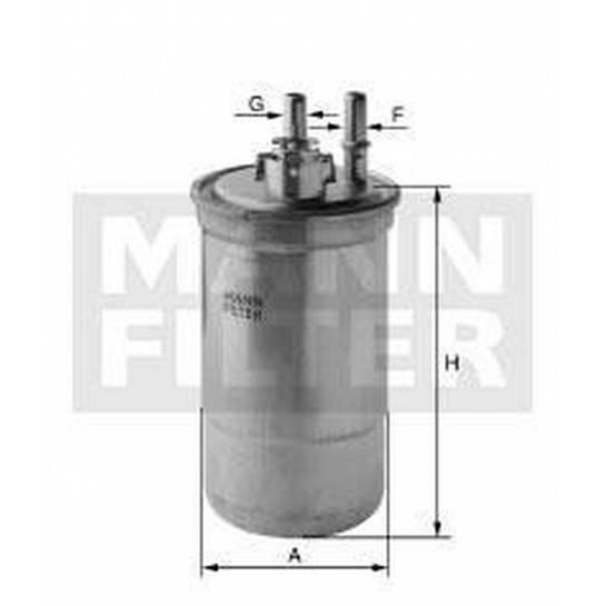 filter paliva mann WK 853/7
