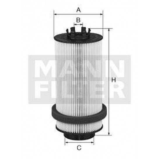 filter paliva mann PU 999/2x