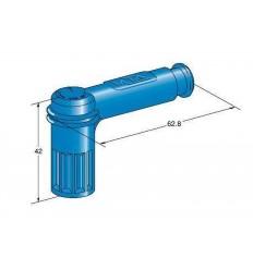 Koncovka káblová 5K OHM -sviečka- modrá