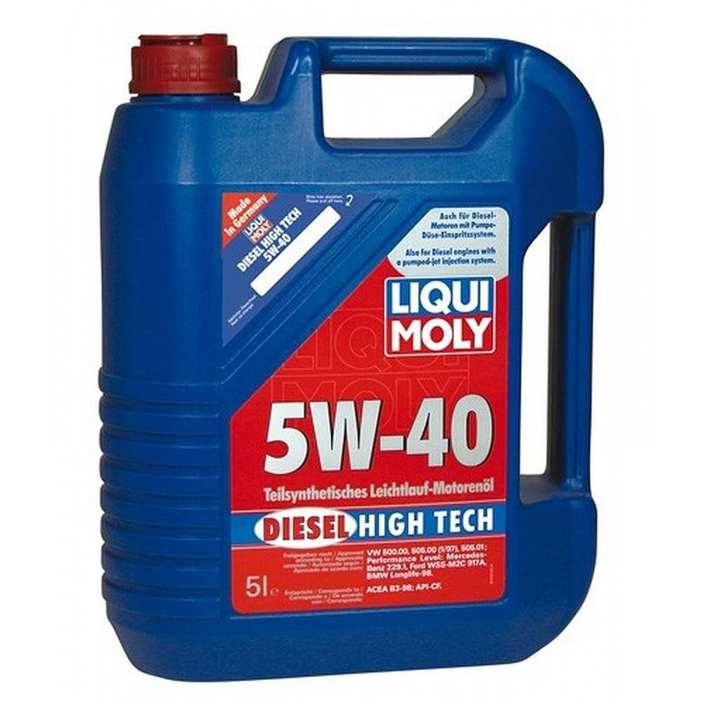 liqui moly motorov olej diesel high tech 5w 40 5l. Black Bedroom Furniture Sets. Home Design Ideas